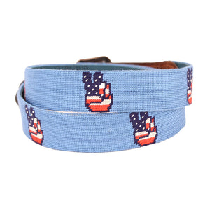 Patriotic Peace Needlepoint Belt by Parlour  - 2
