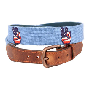 Patriotic Peace Needlepoint Belt by Parlour  - 1