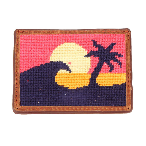 Sunset Surfing Needlepoint Credit Card Wallet by Parlour  - 1