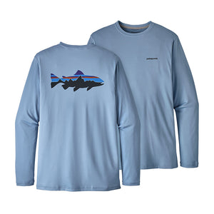 Men's Fitz Roy Trout Long Sleeved Graphic Tech Fish Tee