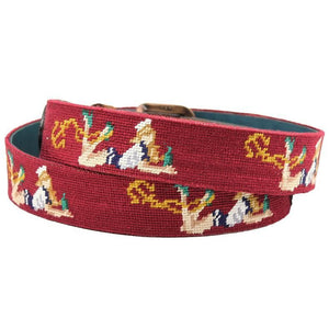 Pin-Up Girl Needlepoint Belt in Light Burgundy by Parlour  - 2