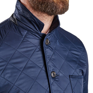 Racer Quilted Jacket in Navy by Barbour