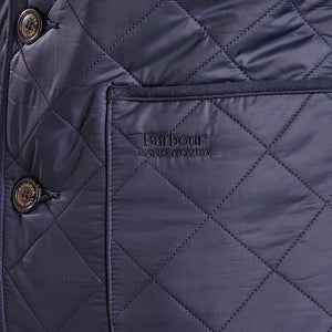 Racer Quilted Jacket in Navy