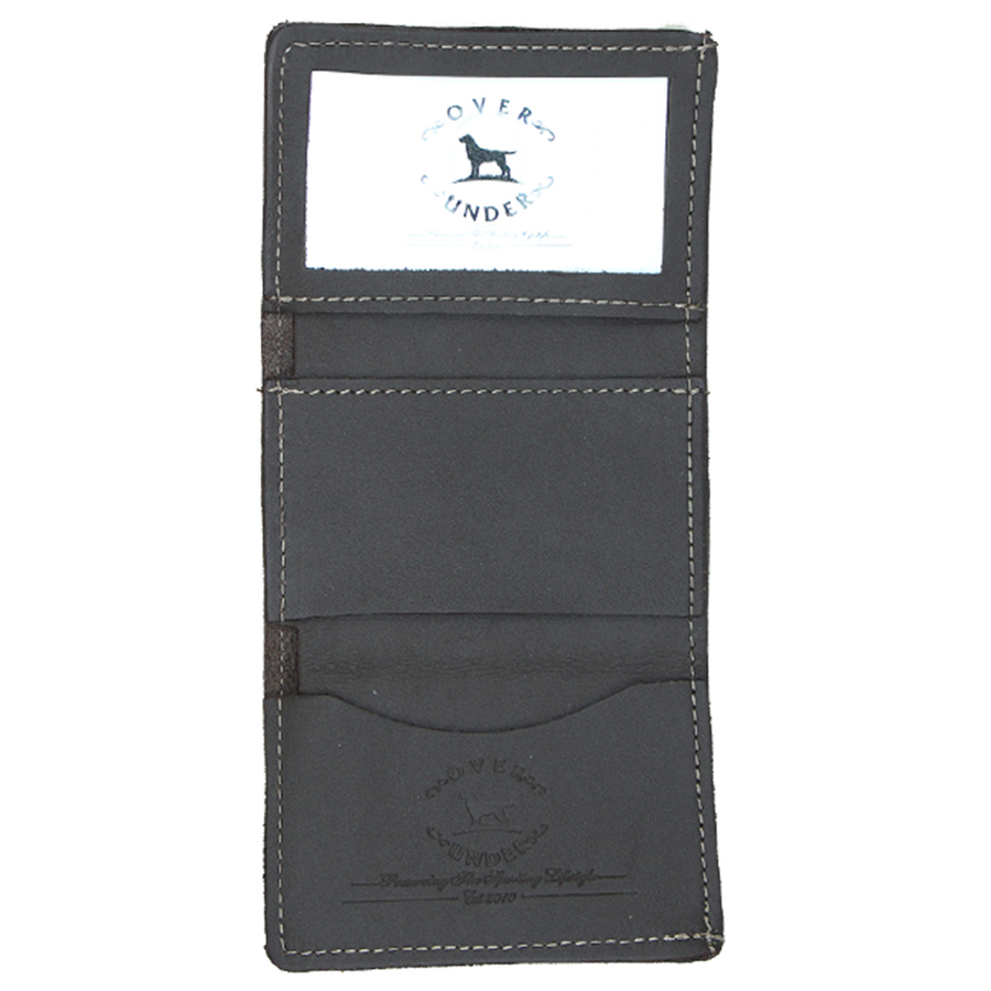 Tri-Fold Leather Wallet by Over Under Clothing
