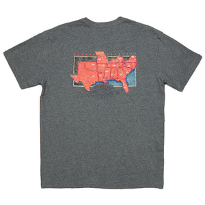 The South River Route Tee in Midnight Grey by Southern Marsh