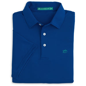 Roster Performance Polo in Blue Cove
