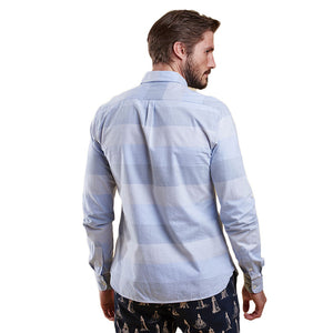 Sailor Tailored Fit Button Down in Sky Blue by Barbour  - 2