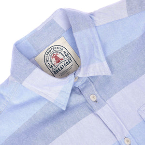Sailor Tailored Fit Button Down in Sky Blue by Barbour  - 3