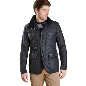 Sapper Tailored Wax Jacket in Navy by Barbour  - 1