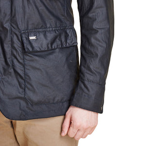 Sapper Tailored Wax Jacket in Navy by Barbour  - 4