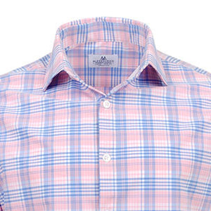 "The ""Savannah"" Button Down in Pink and Blue Plaid by Mizzen + Main"
