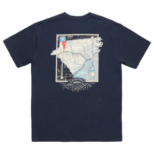 River Route Collection - North Carolina & South Carolina Tee in Navy by Southern Marsh  - 1