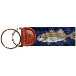 Striped Bass Key Fob in Navy