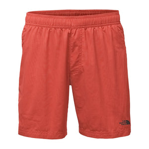 "The North Face Men's 7"" Class V Pull-On Trunks in Sunbaked Red"