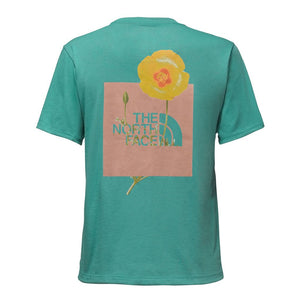 The North Face Women's Short Sleeve Bottle Source Red Box Tee in Bristol Blue