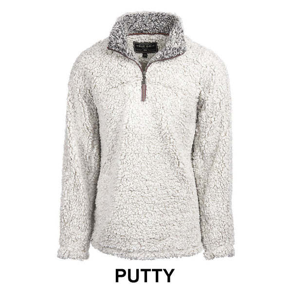 Frosty Tipped Pile 1 2 Zip Pullover True Grit Tide And