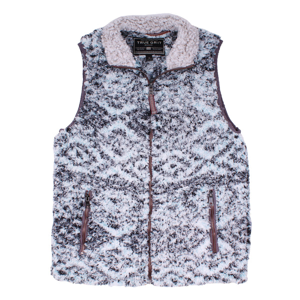 Frosty Tipped Tribal Double Up Vest
