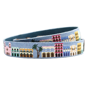 Old Town Needlepoint Belt in Sky Blue by Parlour  - 2