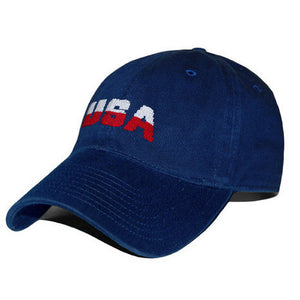 USA Needlepoint Hat in Navy