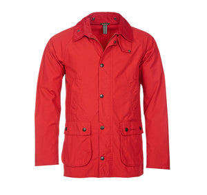 Washed Slim Bedale in Red by Barbour  - 5