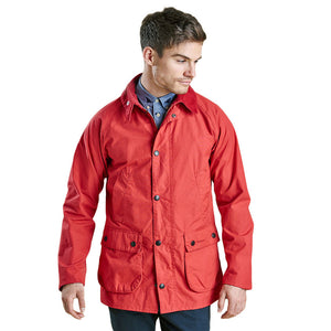 Washed Slim Bedale in Red by Barbour  - 1