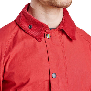 Washed Slim Bedale in Red by Barbour  - 3