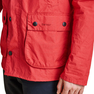 Washed Slim Bedale in Red by Barbour  - 4