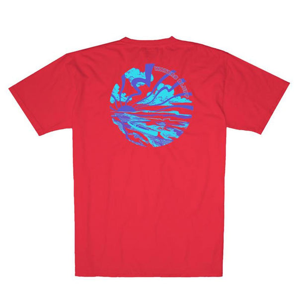 Rayz'd and Confused Simple Pocket Tee in Bright Red by Waters Bluff