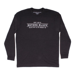 Waters Bluff Coordinates Long Sleeve Tee in Charcoal