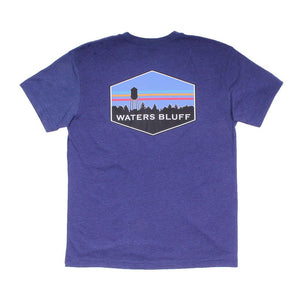 Waters Bluff Midnight Tower Tee in Navy