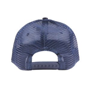 Waters Bluff Wave Logo Trucker Hat in Navy