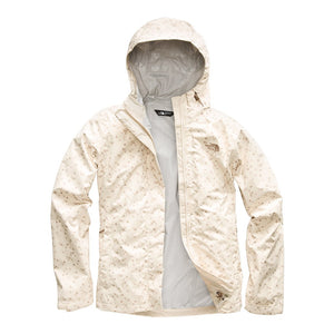 The North Face Women's Print Venture Jacket in Vintage White Sparse Triangle Print
