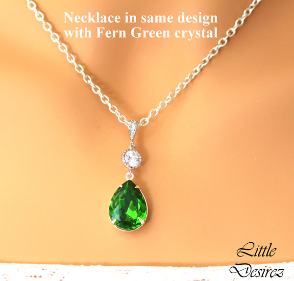 Emerald Jewelry Earrings and Necklace Set EM-31