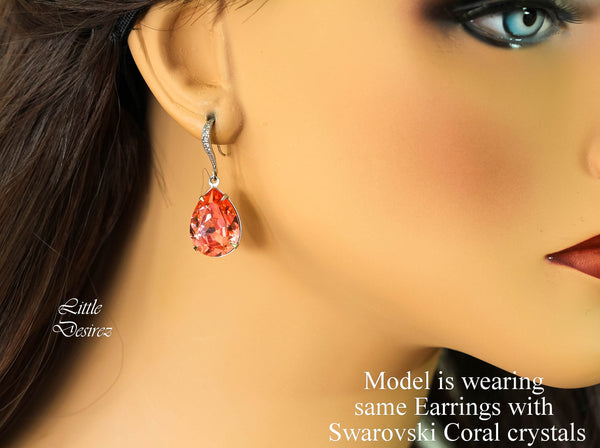 Orange Earrings PAD-31