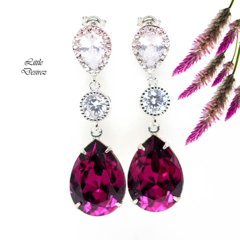 Swarovski Amethyst Earrings AM-31