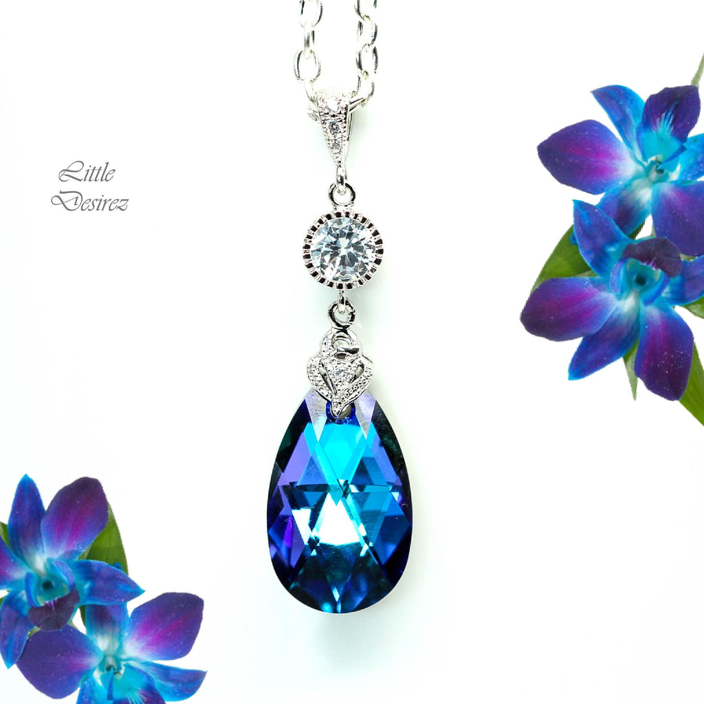 Purple Blue Necklace HE-32