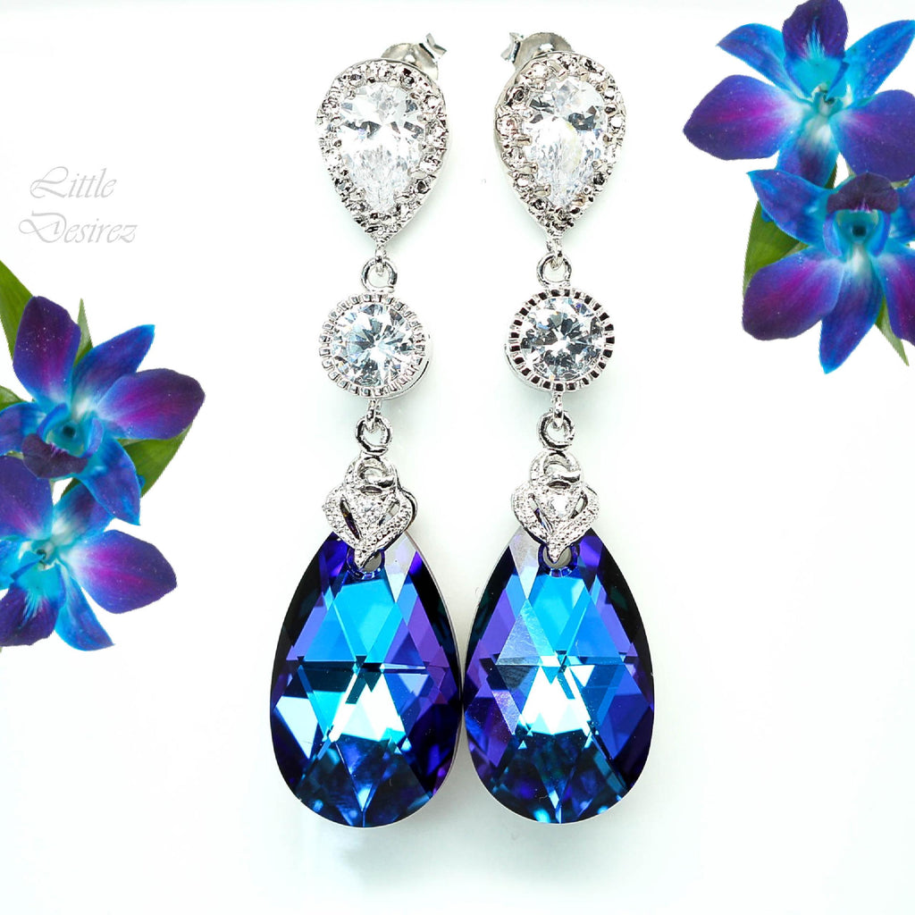 Purple Blue Earrings HE-32