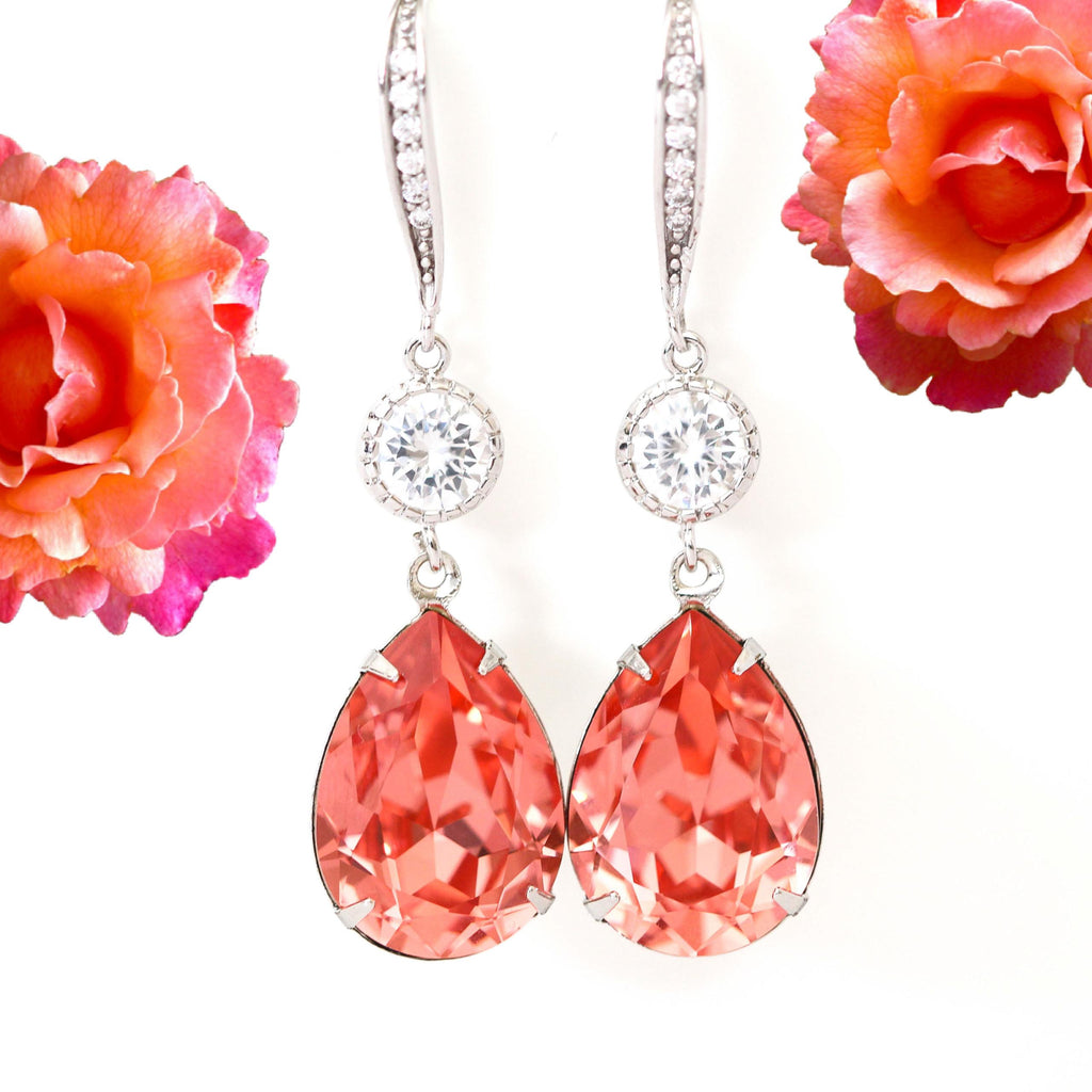 Dangle Coral Earrings CO-31