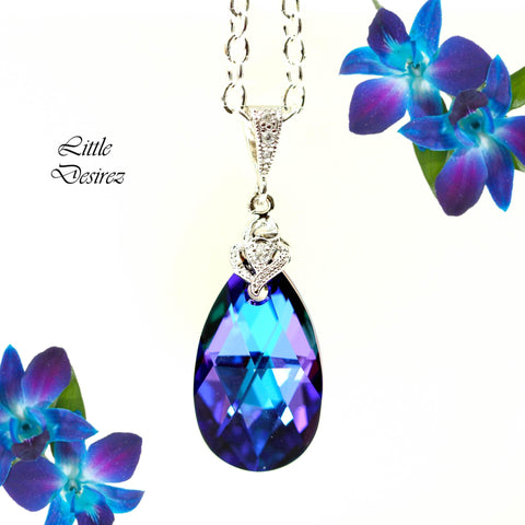 Swarovski Purple Necklace HE-32