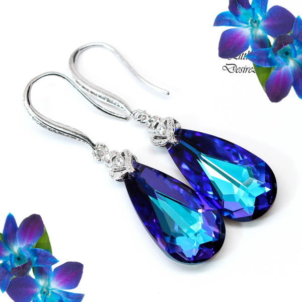Swarovski Purple Earrings HE-33