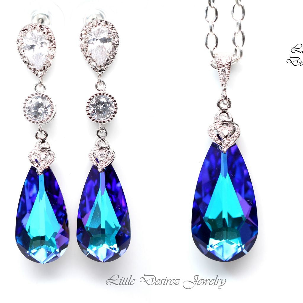 Purple Blue Jewelry Set HE-33