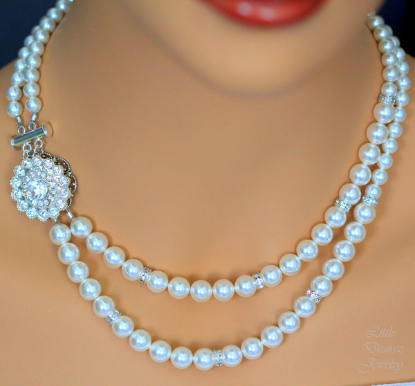 Pearl Multistrand Necklace CELINA
