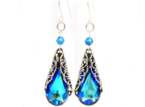 Antiqued Silver Filigree Earrings BB-33