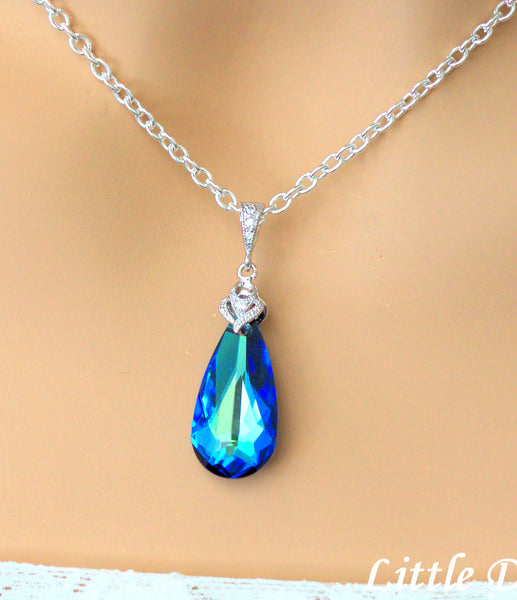 Blue Bridal Necklace BB-33