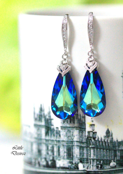 Blue Bridal Earrings BB-33