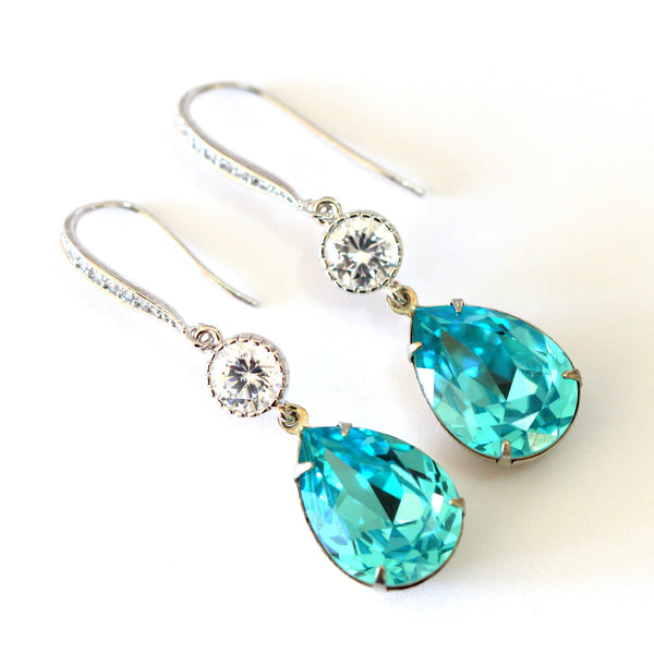 Swarovski Turquoise Earrings TQ-31
