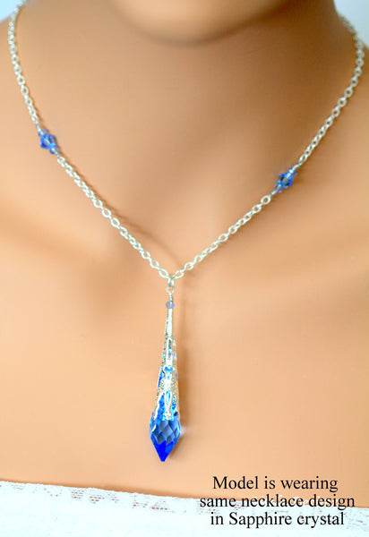 Bridal Wedding Necklace Swarovski Icicle CC-36
