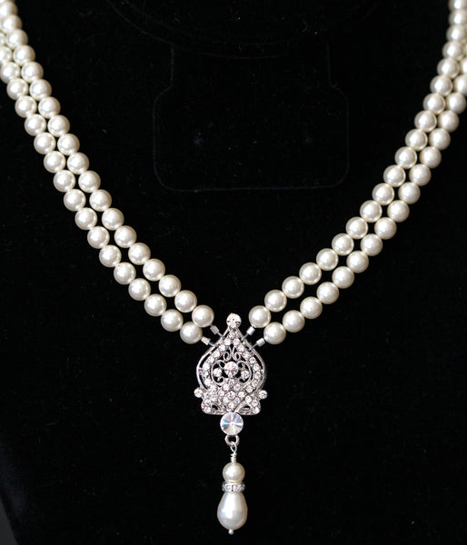 Pearl Wedding Necklace Multistrand Necklace ARIANA