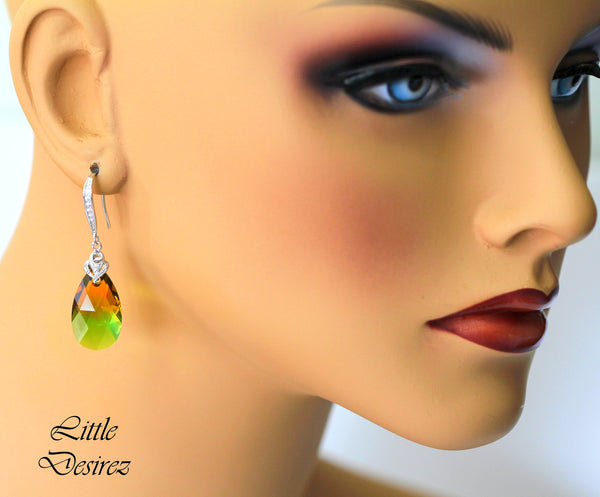 Green & Topaz Earrings GT-32