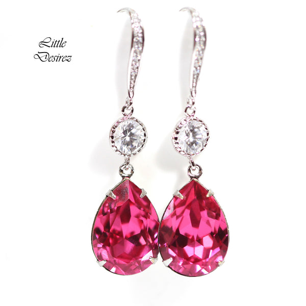 Swarovski Pink Earrings RP-31